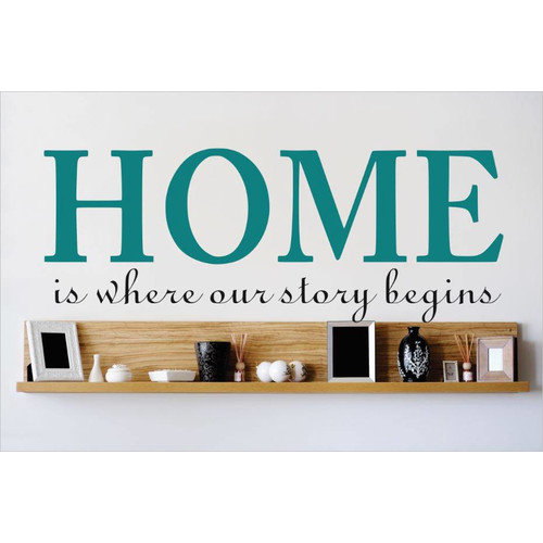 Design With Vinyl Home is Where Our Story Begins Wall Decal