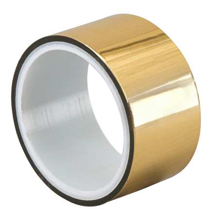 Metalized Film Tape,Gold,1/4In x 5Yd TAPECASE 15D374
