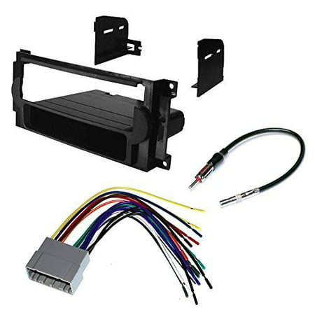 dodge 2004 - 2007 magnum car cd stereo receiver dash install mounting kit + wire harness + radio antenna (2007 Dodge Magnum Dash)
