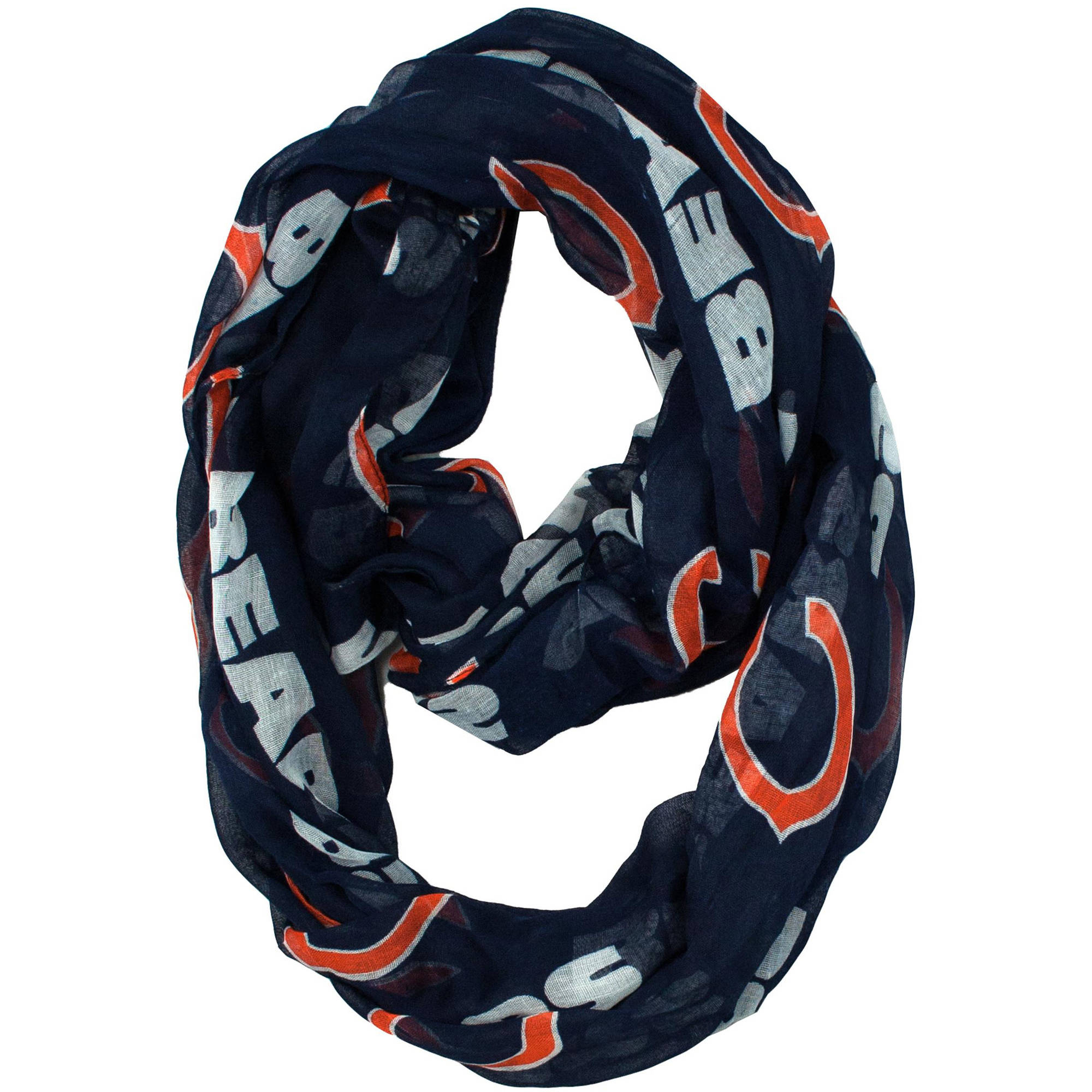 Little Earth - NFL Sheer Infinity Scarf, Chicago Bears