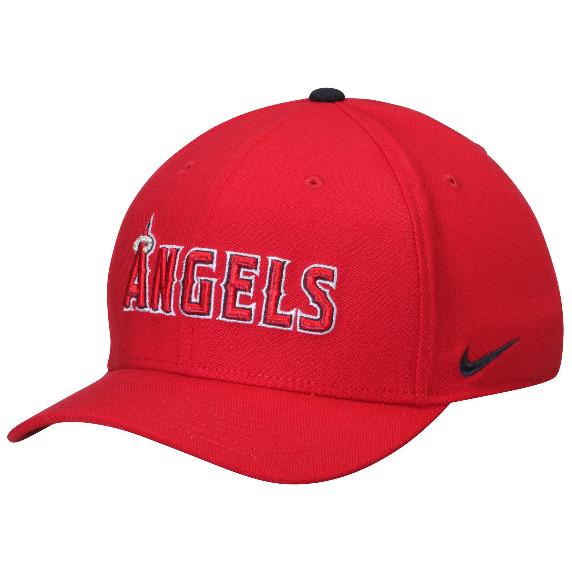 Men's Nike Red Los Angeles Angels Classic Swoosh Performance Flex Hat