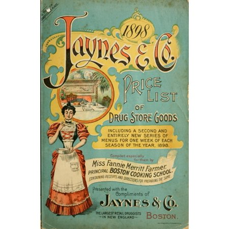 Jaynes Price-list of Drug-store Goods 1898 Cover Canvas Art - (18 x 24)