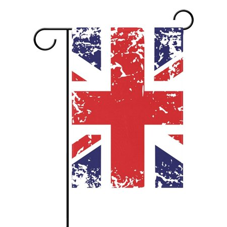 POPCreation Retro Union Jack Uk Flag Garden Flag Summer Ocean Sea Sunset 12x18 inches Outdoor Flag Home Party ()