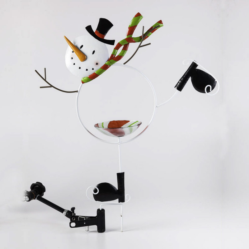 Evergreen Enterprises 489698 Ice Skating Snow Man Garden Stake