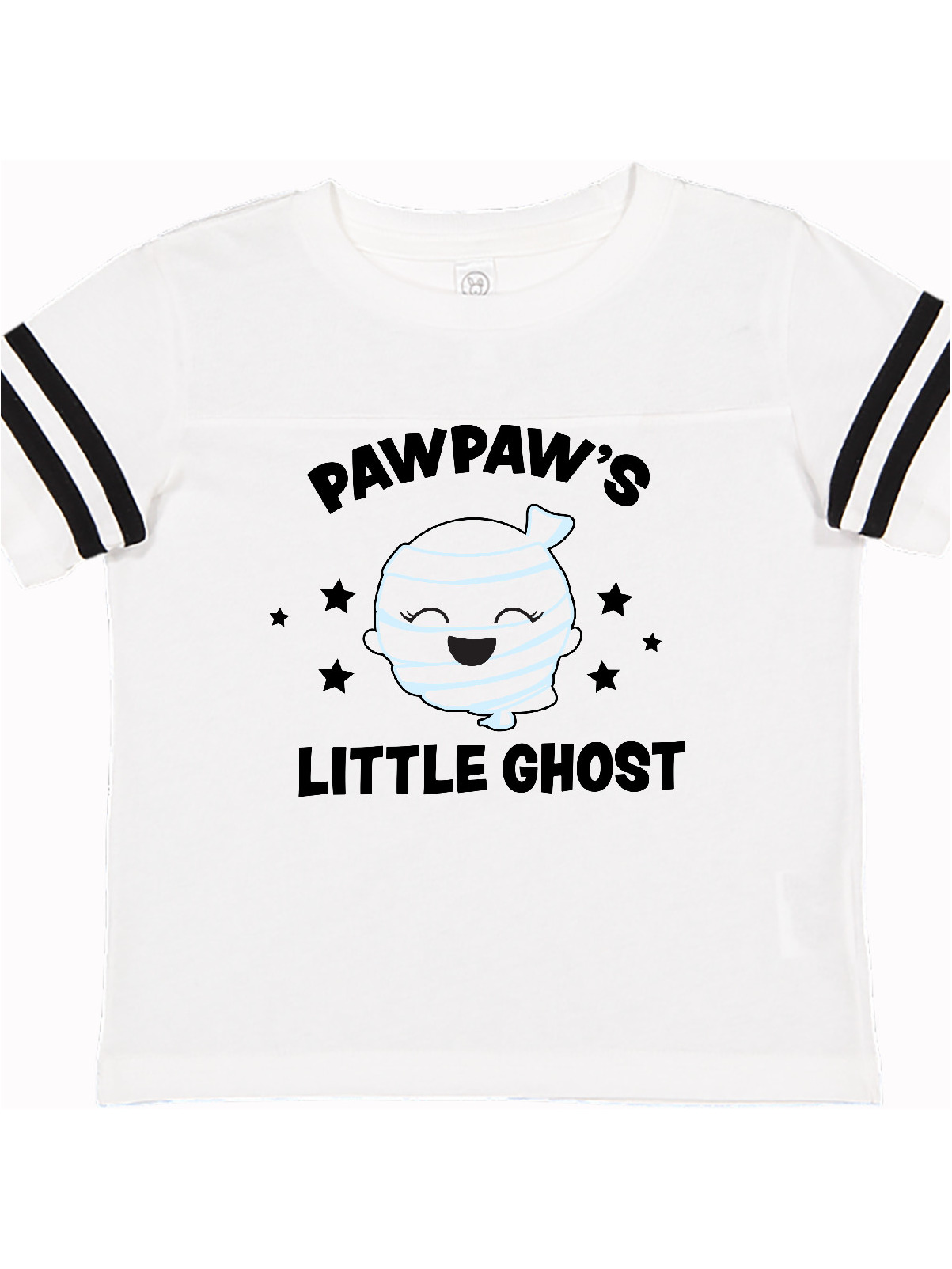inktastic Cute Pawpaws Little Ghost with Stars Toddler Long Sleeve T-Shirt