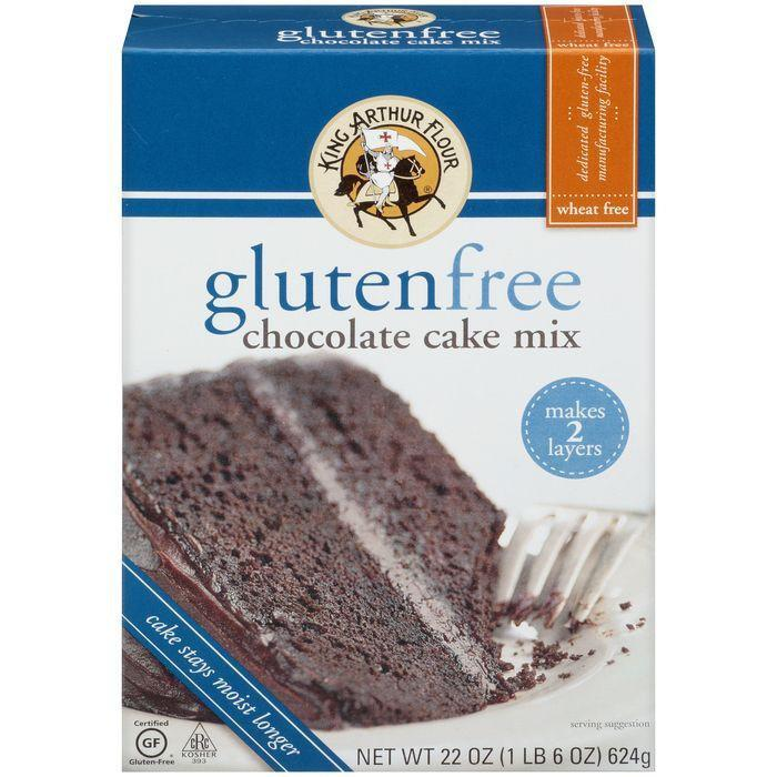 King Arthur Flour Gluten Free Chocolate Cake Mix 22 Oz (Pack of 6)
