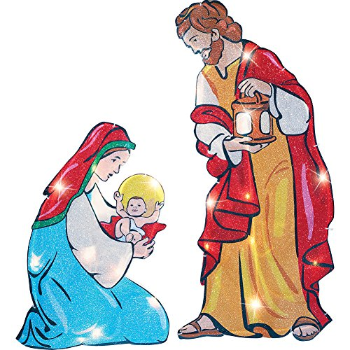 Lighted Outdoor Nativity Scene