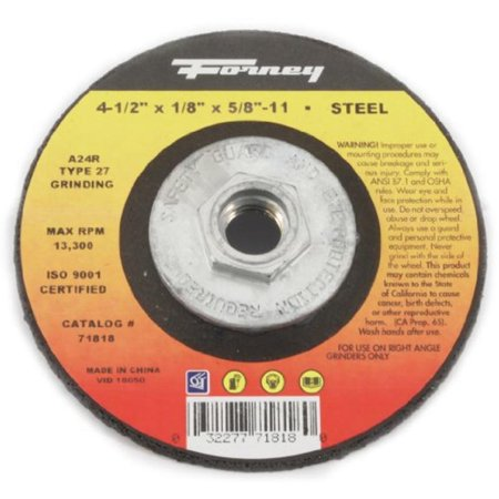 Type 27 Metal Grinding Wheel (4-1/2