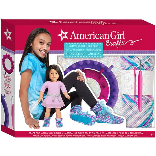 American Girl Slippers Knitting Kit by Underwraps