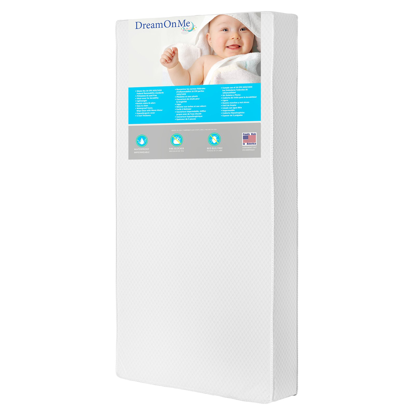 dream on me lullaby 2sided crib and toddler 224 coil mattress