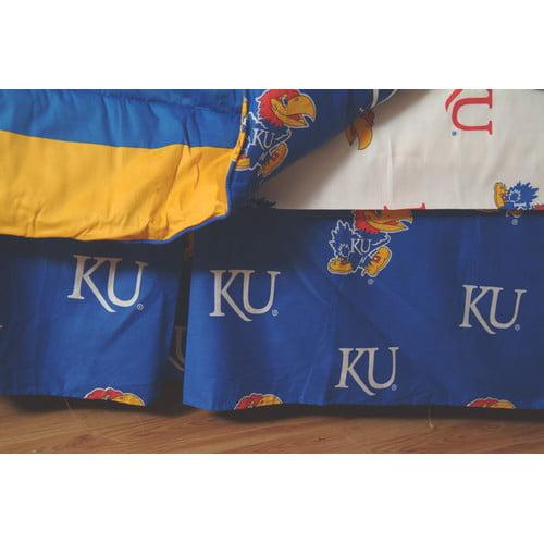 College Covers NCAA Kansas Dust Ruffle