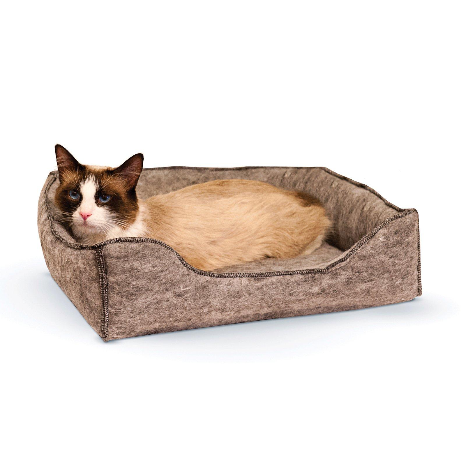 "K&H Pet Products Amazin Kitty Lounge Sleeper, Grey, 13"" x 17"""