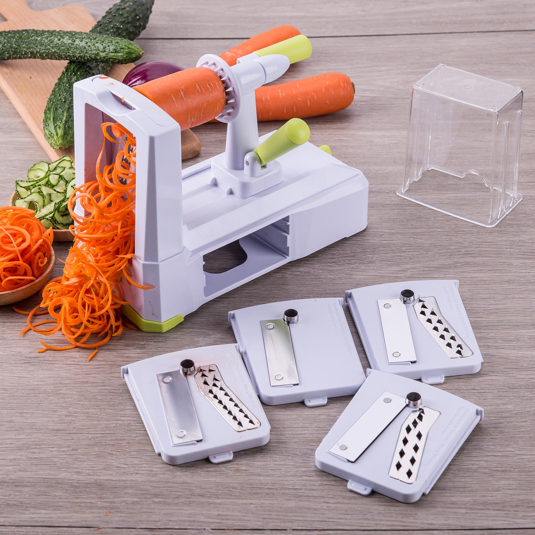 5-blade Spiral Vegetable Slicer Spiralizer Cutter Kitchen