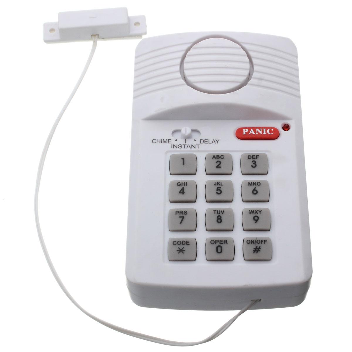 Home Security Keypad Door Alarm Burglar System With Panic Button For Home Shed Garage Caravan