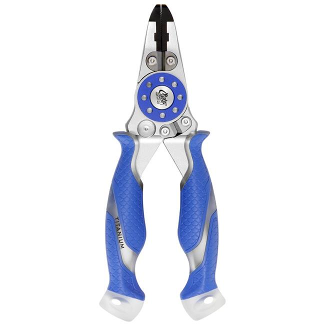 Cuda 3016463 7.5 in. Mono & Braid Fishing Pliers & Wire Cutters - Blue