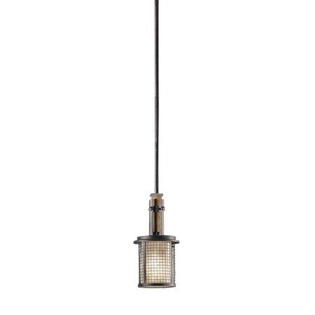 Mini Pendants 1 Light With Anil Iron Finished Medium Base Bulb 6 inch 100 Watts