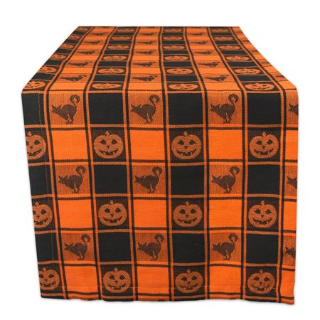 Design Imports CAMZ36194 14 x 72 in. Halloween Woven Check Table Runner - image 1 of 1