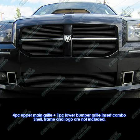 fits 2005 2007 dodge magnum srt8 black billet grille grill. Black Bedroom Furniture Sets. Home Design Ideas