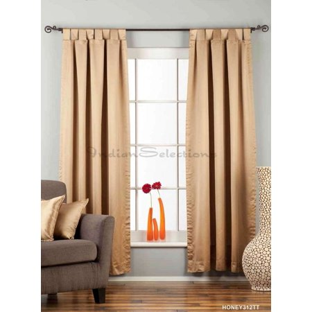 Cleveland Indians Window - Taupe Tab Top 90% blackout Curtain / Drape / Panel  - Piece