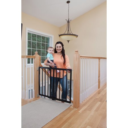 Safety Tip - Safety 1st Top of Stairs Frameless Decor Swing Gate, Fits Space between 27 and 42 inches