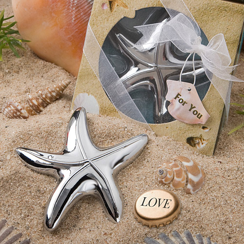 96 Starfish Design Bottle Opener Favors by Fashioncraft