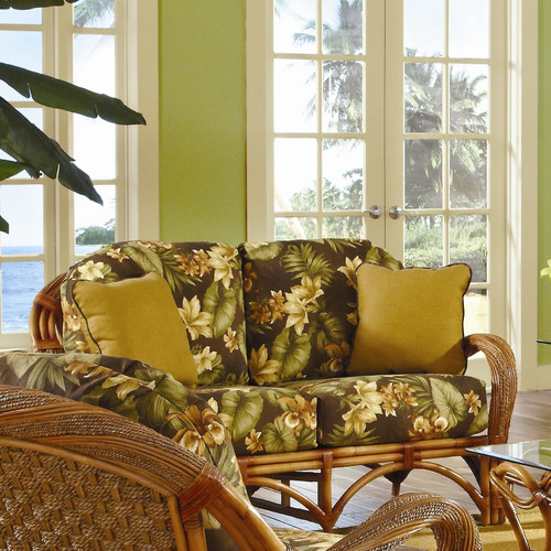 Spice Islands Wicker Caneel Bay'' Loveseat