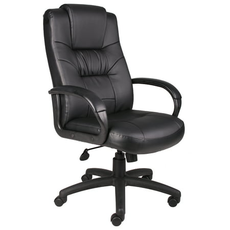 Boss Office Products Black Executive Leather High Back Chair