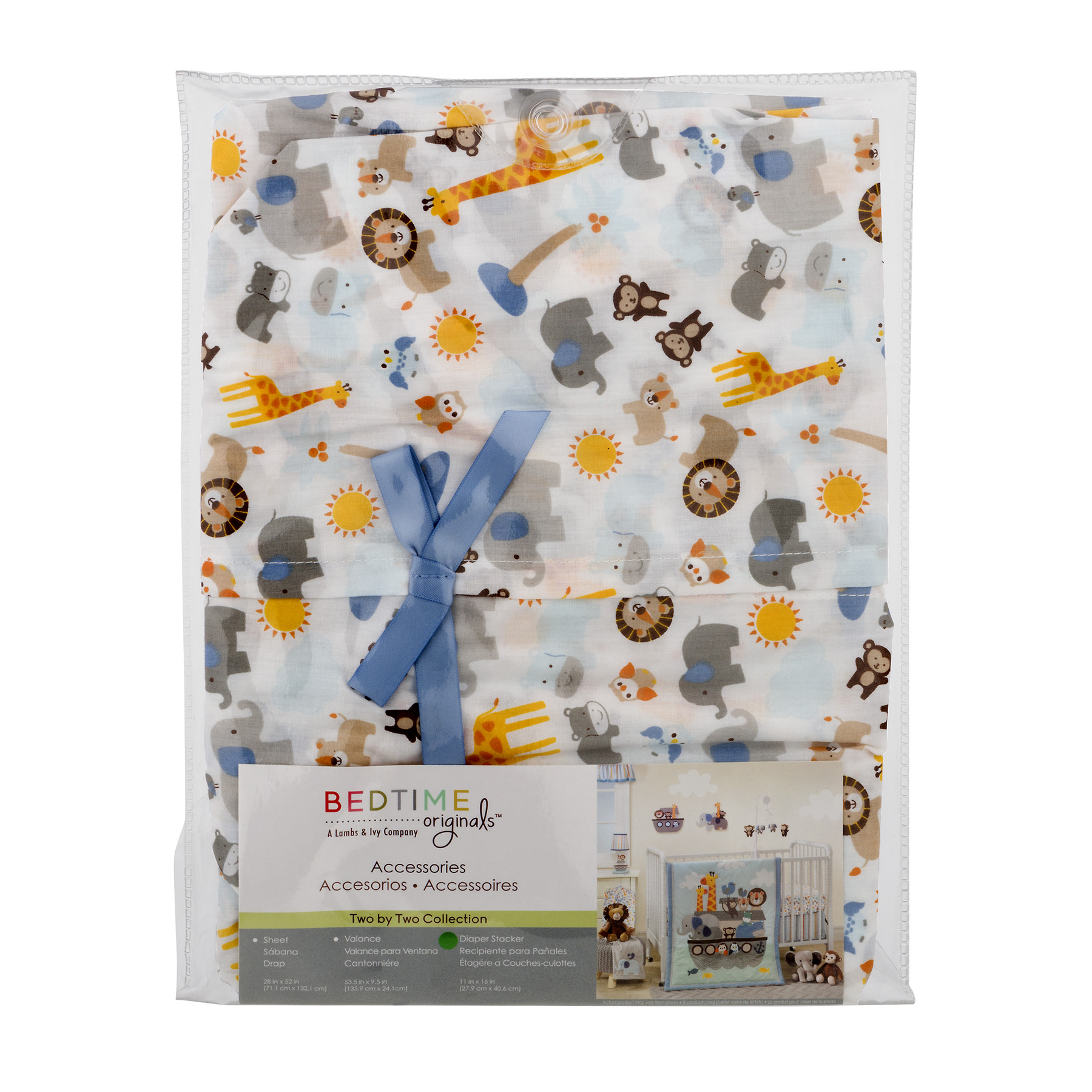 Bedtime Originals Diaper Stacker, Two By Two Collection, 1.0 CT