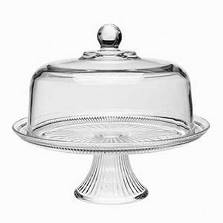 Anchor Hocking Canton Cake Server, 2 Piece (Glass Dome Cupcake Stand)