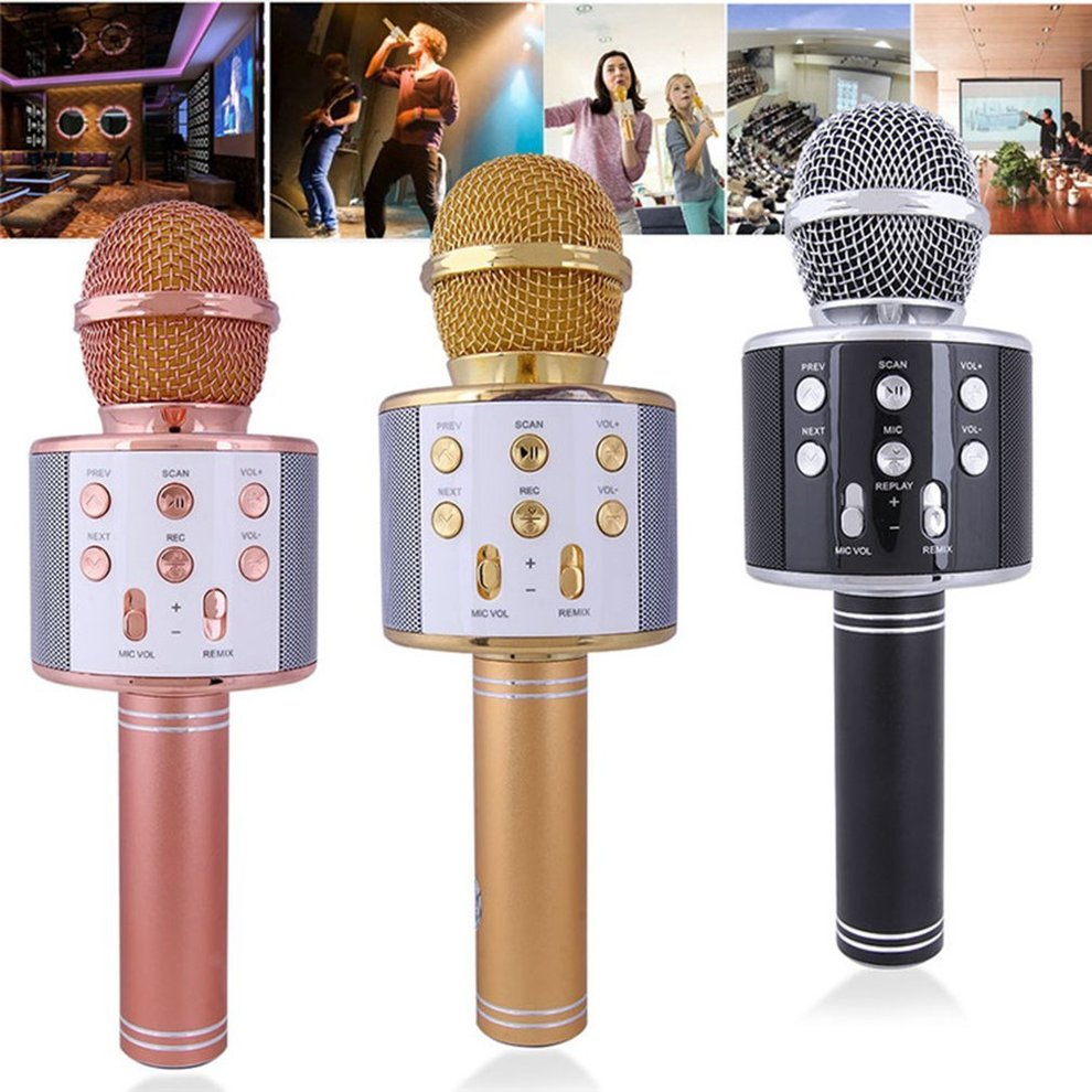NEW Karaoke Microphone Bundle Bluetooth V4.0 Dual Speaker Handheld 2in1
