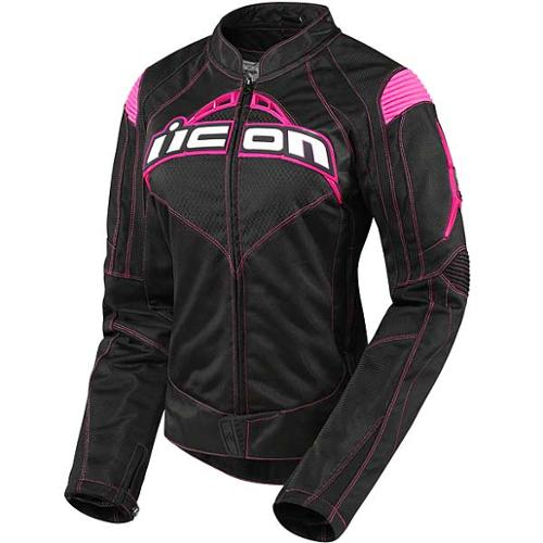 Icon Contra Womens Textile Jacket Black/Pink