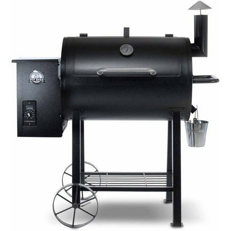 Pit Boss 820 Sq In Wood Fired Pellet Grill W  Flame Broiler