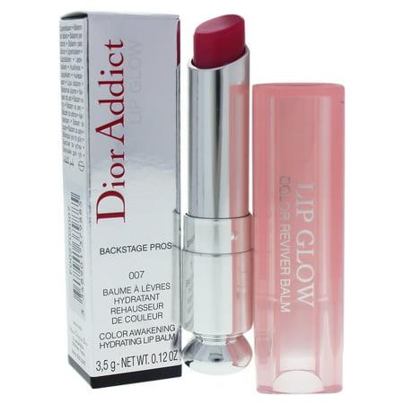 Dior Addict Lip Glow - 007 Raspberry by Christian Dior for Women - 0.12 oz Lip (Dior Addict Lip Glow Color Reviver Balm)