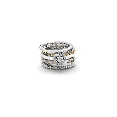 Stackable Bead Ring in Sterling Silver - image 1 de 2
