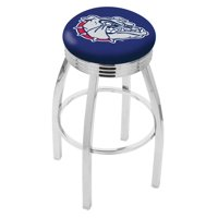 Holland Collegiate 30 in. Chrome Bar Stool with Ribbed Accent Ring