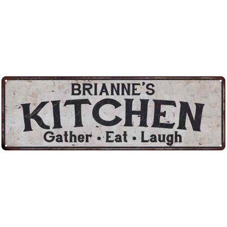 BRIANNE's Kitchen Personalized Rustic Chic Decor Gift 6x18 Sign 206180051801 ()