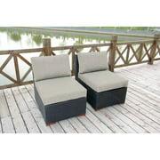 Nevis Armless/Slipper Chair, 2pk