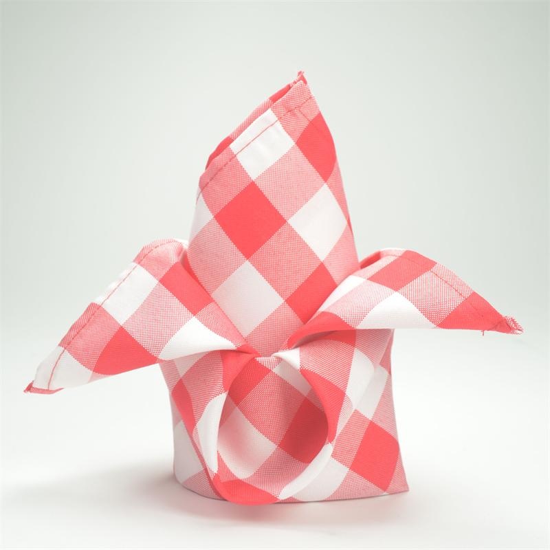 BalsaCircle 5 pcs 15 inch Gingham Checkered Table Napkins - Wedding Party Events Restaurant Dinner Kitchen Home Decoratio