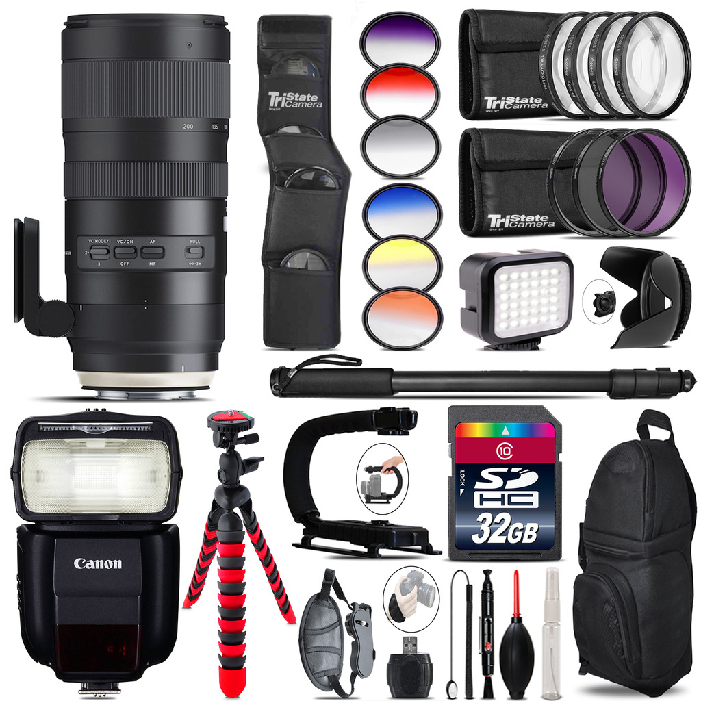 Tamron 70-200mm G2 for Canon + Speedlite 430EX + LED 32GB Accessory Kit by Tamron