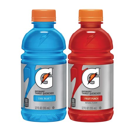 Gatorade Thirst Quencher Sports Drink Variety Pack, Fruit Punch and Cool Blue, 12 oz Bottles, 24 Count ()