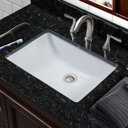 Miseno Vitreous China Rectangular Undermount Bathroom Sink with Overflow
