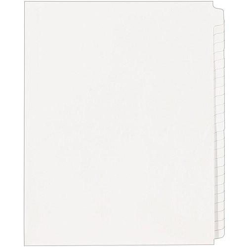 Avery Legal Side Tab Dividers Blank Tab, 25pk