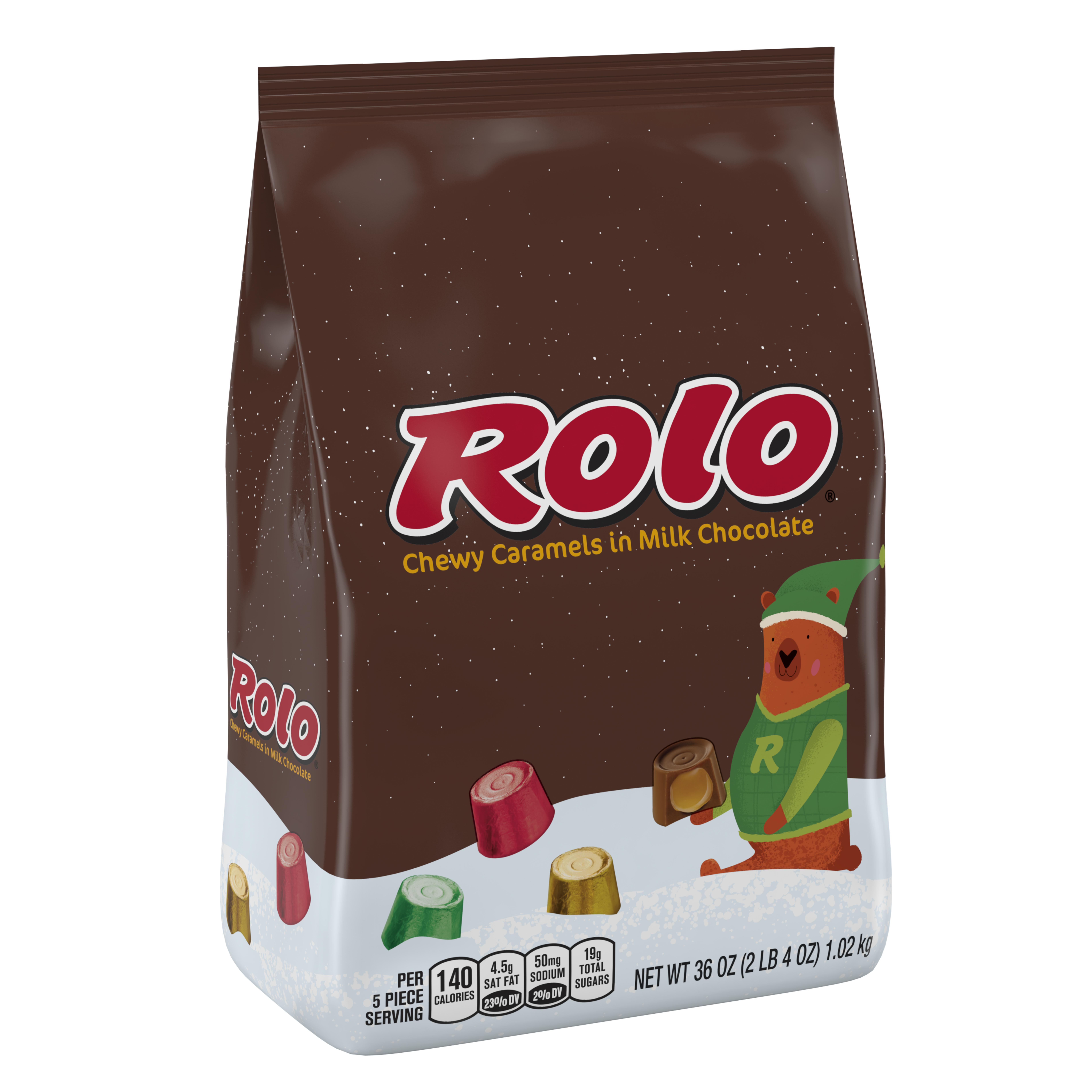 Rolo, Holiday Chewy Caramels in Milk Chocolate, 36 Oz