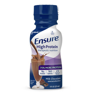 Ensure High Protein Chocolate, 8 oz. Bottle, Institutional - 1 Each