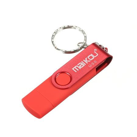 MaiKou 2-in-1 USB 3.0 Flash Drive USB Flash Disk Black&32GB - image 2 of 7
