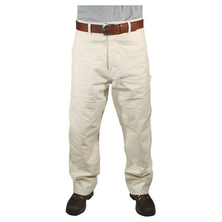 Painter Pants - Rugged Blue Natural Painters Pants - Reinforced Knees - Natural - 34x36