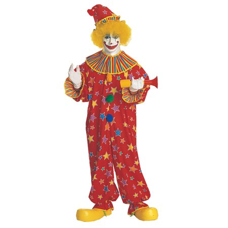 AC26 Morris Costumes Clown Costume Jumpsuit Adult ,One Size - Clown Jumpsuit Costume