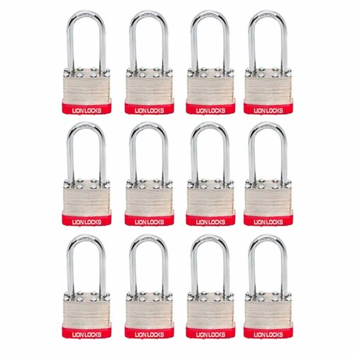 AfulaEnterprises Lion Locks 5PLS Keyed-Alike Padlock (Set of 12)