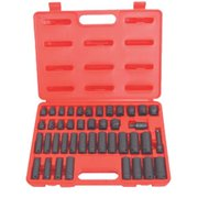ATD Tools ATD-4601 42 Piece 3-8 inch Drive 6-Point SAE and Metric Standard and Deep Impact Socket Set