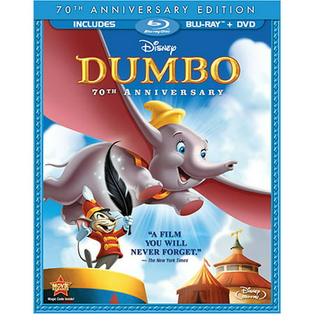 Dumbo (70th Anniversary Edition) (Blu-ray + DVD) - Disney Halloween Movie List